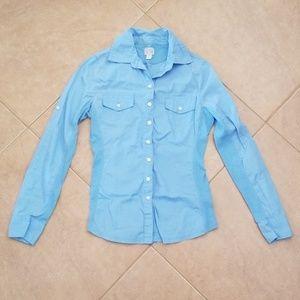 Converse All Star Long Sleeve Blue Shirt